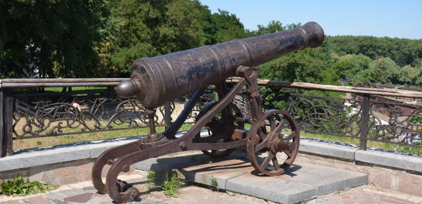 Cast-Iron Cannons in Chernihiv Ukraine